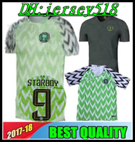 Wholesale Soccer 12 - 2018 Nigeria SOCCER JERSEY HOME IWOBI 18 SHEHU 12 AWAY GREEN IHEANACHO 2018 World Cup OBI NDIDI JERSEY OQU FOOTBALL SHIRTS