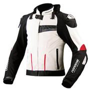 malla de montar chaquetas de moto al por mayor-2018 nueva chaqueta de protección de la motocicleta chaqueta de carreras de malla transpirable de los hombres de carretera de 2 colores tamaño M-3XL