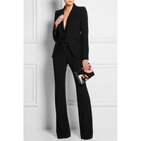 siyah kadınlar için ofis giyim toptan satış-Yeni Siyah Kadınlar İş Örgün Ofis Takım Elbise Çalışma Blazer Kadın Smokin Takım Elbise Gündelik Giyim B230