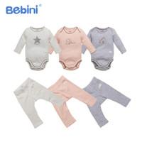 cdcdb2998c160 Vêtements de bébé en coton bio ensemble bébé doux barboteuse + pantalon  vêtements costume unisexe nouveau-né garçons filles pyjamas