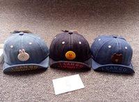 boys denim design toptan satış-Küçük çocuklar Çocuk yaz şapka kız Erkek Denim tasarım şapka yaz casquette cap bebek kız rahat taze güneş koruyucu beyzbol şapkaları