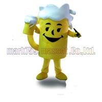 ingrosso costumi da birra-Il formato adulto libero di trasporto della mascotte della tazza della birra, il partito di carnevale del giocattolo della peluche della mascotte della tazza della birra celebra le vendite della fabbrica della mascotte.