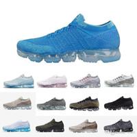 en iyi indirim koşu ayakkabıları toptan satış-Toptan en kaliteli OG vapormax beyaz siyah Sıcak Satış Kadın Erkek koşu Ayakkabıları spor sneakers İndirim buhar maxes 2018 Açık eğitmenler Nike Air Max AIRMAX