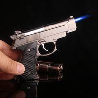 Wholesale pistol style for sale - Creativity pocket pistol Gun Style Lighters Cool Style nice color Gun Lighter wind proof lighter For Smoking LGT002