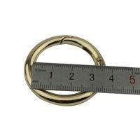 conector de corda venda por atacado-30mm sliver bronze ouro preto primavera o anel fecho saco corda cintas cinto cabo colar pulseira conector frete grátis