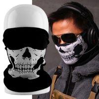 scary hats NZ - 2017 Skull Skeleton Masks Black Motorcycle Multi Function Headwear Hat Neck Scary Face Winter Ski Mask Free Shipping