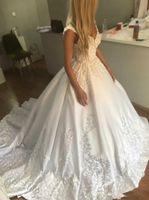 Wholesale Dresse Wedding Ball - 2018 Vintage Bohemail Ball Gown Wedding Dresse Ivory Vestidos De Noiva Plus Size Bridal Gowns