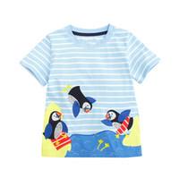Wholesale kids boys tshirts - Animals Appliqued Boys Tshirts Cotton Casual Baby Boy Clothing 2018 Designer Kids Summer Tops Children T-shirts