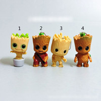 Wholesale ring style japan resale online - Free DHL Style Guardians of the Galaxy Groot Doll toys New kids avenger Lovely Cartoon Groot key ring pendant Toy B