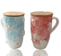 фарфоровая раковина оптовых-керамическая творческая оболочка Морская звезда чай кружка кофе раковина молоко чашка домашнего декора ремесла украшения комнаты фарфоровая статуэтка любителей кружки