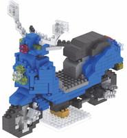 série mini brinquedos de bloco venda por atacado-Diamante pequeno da série da motocicleta obstrui brinquedos plásticos do bloco do conjunto mini