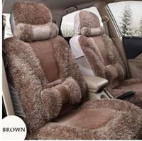 ingrosso set di copri sedili marrone-Coprisedile auto in pelle sintetica marrone anteriore + posteriore per la maggior parte delle automobili Coprisedili Coprisedili auto Accessori interni auto