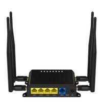 tarjeta del sim del ranurador del módem sin hilos al por mayor-300mbps 3G 4G wifi router HSPA router inalámbrico Con ranura para tarjeta SIM LTE módem Encienda el wifi por cable LAN