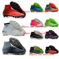 botines de fútbol juvenil ag al por mayor-2018 botines de fútbol juvenil baratos Mercurial Superfly V SX Neymar Ronalro AG zapatos de fútbol para niños para hombre niños botas de fútbol Rising Paquete rápido