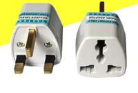 Universal EU US AU to UK AC Travel Power Plug Charger Adapter Converter Travel Free Shipping LLFA