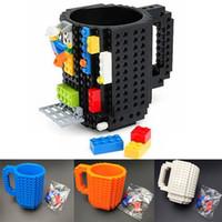Wholesale personalized mug resale online - 350ml Creative Milk Mug Coffee Cup Building Blocks Mugs Men Women Children Personalized Decompression Water Cup color WX C13