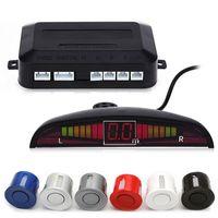 led-display-monitore groihandel-HLEST 1 Satz Auto Led Einparkhilfe 5 Farben Parktronic Display 4 Sensoren Rückfahrhilfe Radar Monitor Einparkhilfe