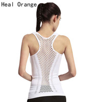 Wholesale Womens Yoga Tanks - Womens Yoga Shirt Yoga Tank Tops Hollow Back Top Gym Jogging Vest Female Running Top Woman Fitness Sport Sexy Clothing
