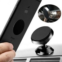 Wholesale dashboard magnetic phone holder online – Hot selling Desktop Magnetic Metal Phone Holder Rotation Strong Magnets Aluminium Alloy Dashboard Car Mount With Retail Package