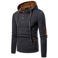 Wholesale casual clothes online for sale - 2018 new spring autumn men s large size suede color hooded sweater coat men long sleeve clothing Pullover online