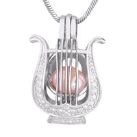 harfenanhänger großhandel-Neue Mode Versilbert Harfe Perle Käfig Anhänger Für Mode DIY Perlenkette Heißer Verkauf P155