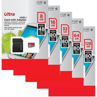 capacidad de la tarjeta de memoria de 64 gb al por mayor-Capacidad real 64GB 32GB 16GB 8GB Tarjeta de memoria TF Ultra UHS-I con adaptador 80MB / s 553X