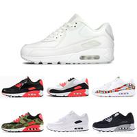en iyi indirim koşu ayakkabıları toptan satış-nike air max 90 n iyi indirim Erkek kadın Koşu Ayakkabıları ATMOS SIYAH CROC ULUSLARARASI BAYRAĞı PAKETI INFRARED erkek Eğitmen Nefes Spor Ayakkabı boyutu 36-45