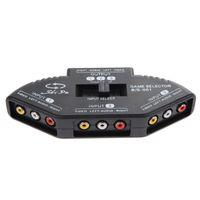 av устройство оптовых-rca 3 Вход 1 выход аудио видео RCA коробка для ТВ AV устройств черный переключатель селектор коробка сплиттер