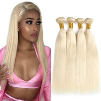 Wholesale remy blonde human hair weave extension resale online - 613 Blonde Hair Weaves Peruvian straight human Hair Bundles Honey Straight Non Remy Hair Extensions