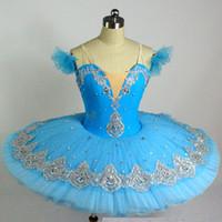 erwachsene schwan kostüm großhandel-Neue blaue schwarze Schwan Ballett Kleidung für Kinder Saia Ballett Kostüm Erwachsenen Mädchen Tutu für Kinder anpassbare Größe