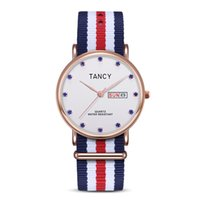 Wholesale Water Resistant Watch China - hot sale mens luxury nylon strap water resistant watch good quality fancy watches made in china