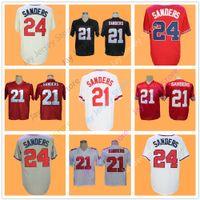 Wholesale baseball atlanta - Deion Sanders jersey Football Baseball Atlanta Cincinnati San Francisco Vintage Men Size M L XL 2XL 3XL