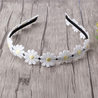 accessories for red dresses NZ - New Designer Small chrysanthemum Hair Band for Girls Headband Hair Accessories Princess Dress Flower Hair band White Daisy