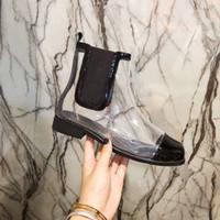 lindo negro corto al por mayor-2018 Nuevas muchachas de la moda diseño blanco botas cortas mujer casual primavera pvc sólido zapatos de zapato agradable niñas de la escuela negro dama tamaño 40-35 # KO10