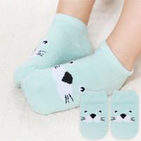 satılık bebek çorapları toptan satış-Bebek Hayvan Çorap 10 Çift / grup Sıcak Satış 6 -18 m Sevimli Hayvan Ince Bebek Çorap İlkbahar / Yaz / Sonbahar Bebek Kız Çorap Sk0022