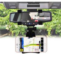 rückspiegel gps halterungen großhandel-Universal Handyhalter Autohalterung Rückspiegel Navigation GPS Autotelefonhalter Für iphone 7 plus Xiaomi