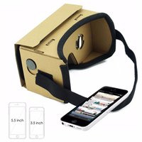 Wholesale free google cardboard online - Fashion Google Cardboard VR Box DIY Virtual Reality D Glasses with Magnet for iPhone Samsung s6 note DHL free