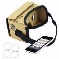 dhl sanal gerçeklik gözlükleri toptan satış-Moda google karton vr kutusu diy sanal gerçeklik 3d gözlük mıknatıs ile iphone 5 6 samsung s6 not 2 dhl ücretsiz