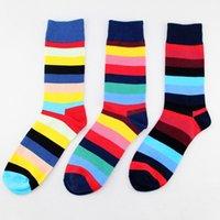 chaussettes étrangères achat en gros de-PEONFLY funny Socks hommes Pure Cotton Man In Cylinder Socks Le vent heureux du commerce extérieur transfrontalière meia robe 3PAIRS / LOT