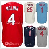Wholesale Men Dexter - Mens 1 Ozzie Smith 4 Yadier Molina Jersey 25 Dexter Fowler Jerseys Embroidery Logos 100% Stitched