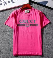 Wholesale hot t shirts for men online - Luxury Brand Summer T Shirt Fashion Tide T Shirt for Men Designer Shirts Letter Print Casual Men Women Crew Neck Hot Sale Size S XL