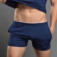 erkekler için gövde iç çamaşırı toptan satış-Marka Seksi Erkekler İç Giyim Boxer Şort Mens Sandıklar Man Pamuk İç Giyim Yüksek Kaliteli Ev pijamalar Külot Ücretsiz Kargo