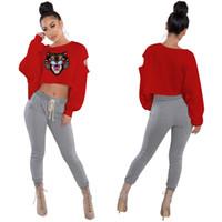 Wholesale streetwear brands for women for sale - Fahion Tide Brand Tiger  Head Embroidery Women Sweatshirt db6ca5f946