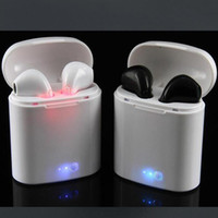 Wholesale Iphone Headphones Retail Box - I7S TWS Twins Bluetooth Headphones with Charger Box Wireless Earbuds Headset for IOS Iphone X Android Samsung with Retail Packaging