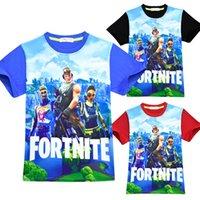 Wholesale fashion baby clothes online - Baby boys girls Fortnite print T shirts summer shirt Tops cotton children Tees kids Clothing colors C4810