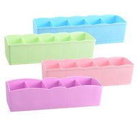 Wholesale Storage Boxes Underwear Bra - Plastic Storages Boxs Multi Function Desktop Drawer Clothing Storage Box Underwear Socks Bra Ties Organizer 1 2gy C R