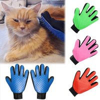 Wholesale massage hair gloves online - Pet Dog Hair Brush Silicone Glove For Pet Cleaning Massage Grooming Comb Supply Finger Cleaning Pet Cats Hair Brush Gloves