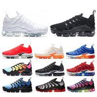 pretty nice 04d85 cb092 Nike air vapormax tn plus chaussures de course hommes sneaker triple blanc  noir jeu royal orange entraîneur sportif hommes athlétique jogging chaussure  ...