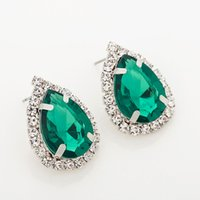 Wholesale large studs earrings - Fashion Jewelry Women Party Accessories stud earring female fashion accessories large rhinestone sexy vintage jewelry for women #E035