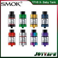 bobina v8 q2 al por mayor-Auténtico atomizador SMOK TFV8 X-Baby Tank 4ML con sistema de flujo de aire superior ajustable con V8 X-Baby Q2 M2 bobinas dobles reemplazables 100% originales